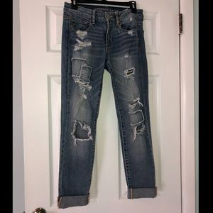 Super cute jeans with holes!